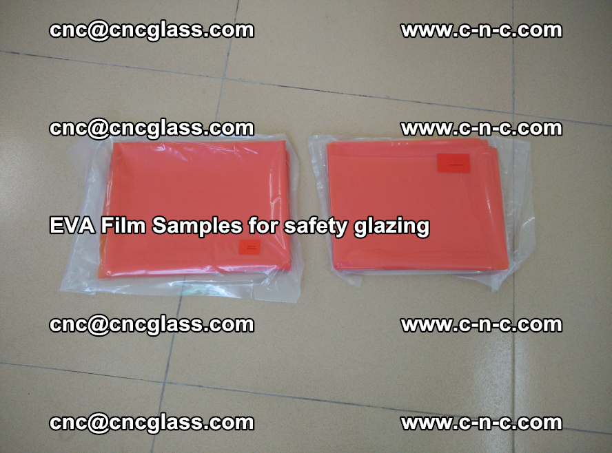 Ethylene Vinyl Acetate EVA FILM INTERLAYER samples for laminated safety glass (17)