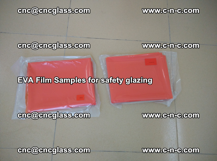 Ethylene Vinyl Acetate EVA FILM INTERLAYER samples for laminated safety glass (20)