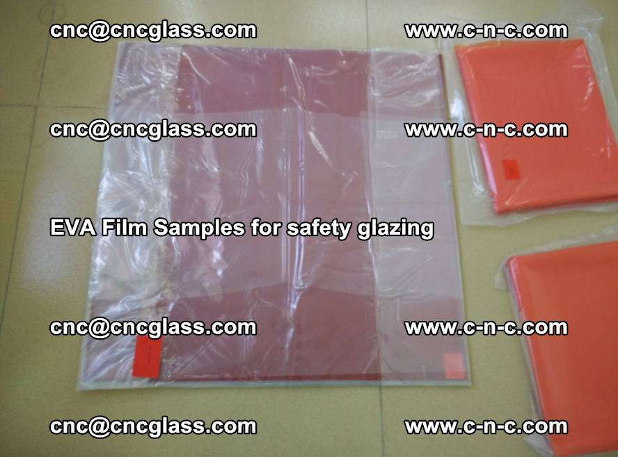 Ethylene Vinyl Acetate EVA FILM INTERLAYER samples for laminated safety glass (21)