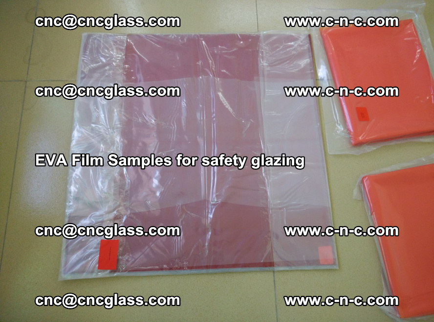 Ethylene Vinyl Acetate EVA FILM INTERLAYER samples for laminated safety glass (22)