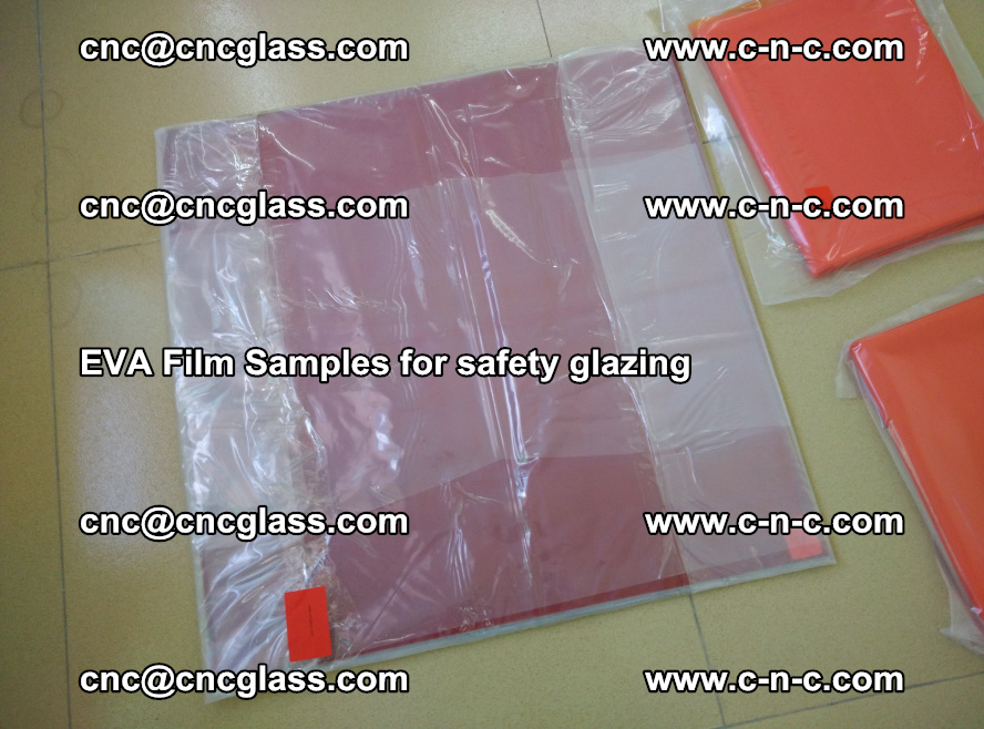 Ethylene Vinyl Acetate EVA FILM INTERLAYER samples for laminated safety glass (24)