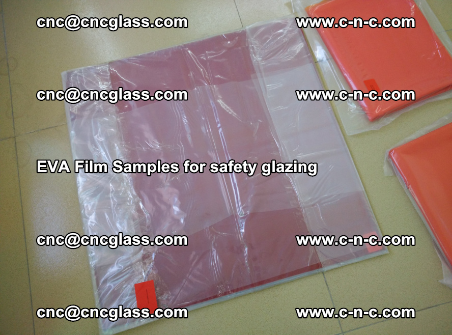 Ethylene Vinyl Acetate EVA FILM INTERLAYER samples for laminated safety glass (25)