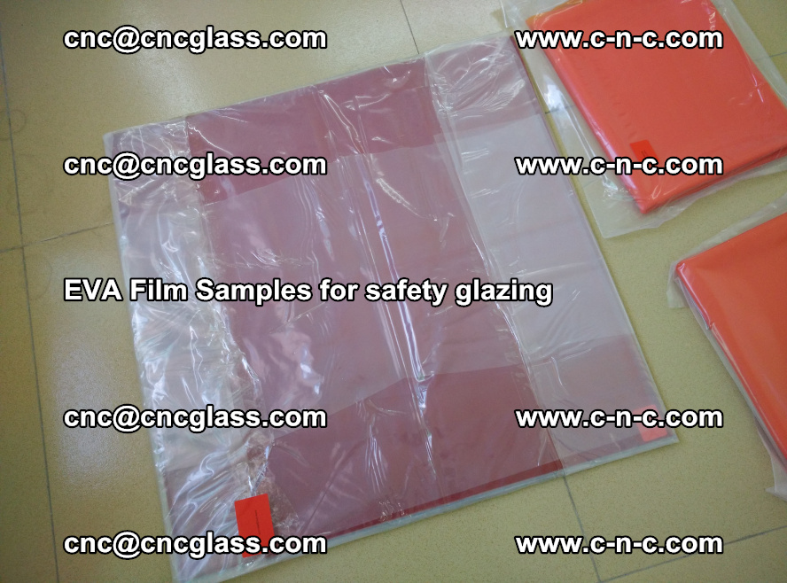 Ethylene Vinyl Acetate EVA FILM INTERLAYER samples for laminated safety glass (26)