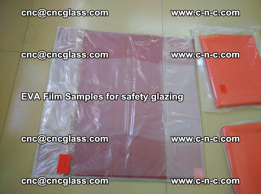 Ethylene Vinyl Acetate EVA FILM INTERLAYER samples for laminated safety glass (27)