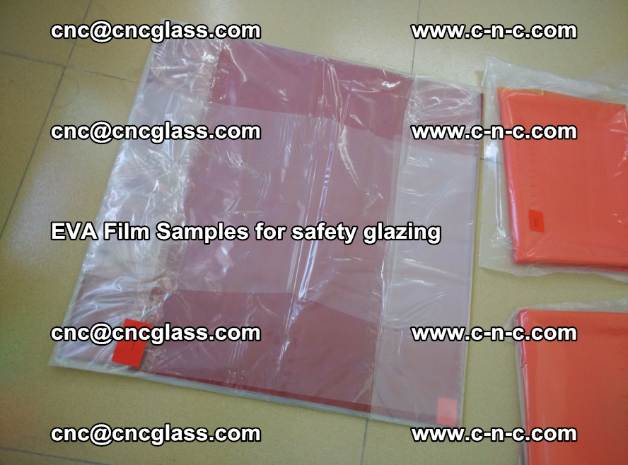 Ethylene Vinyl Acetate EVA FILM INTERLAYER samples for laminated safety glass (28)