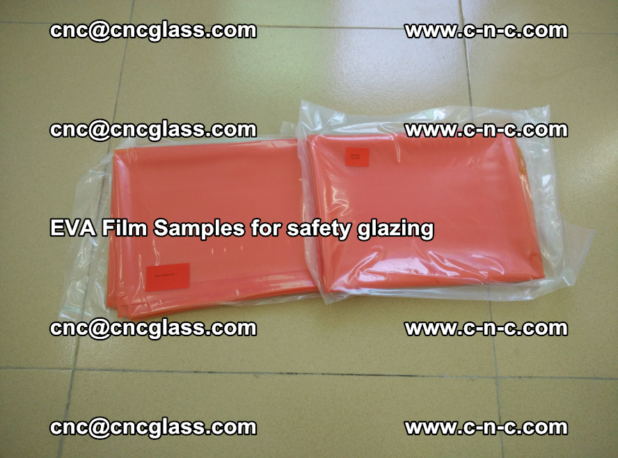 Ethylene Vinyl Acetate EVA FILM INTERLAYER samples for laminated safety glass (3)