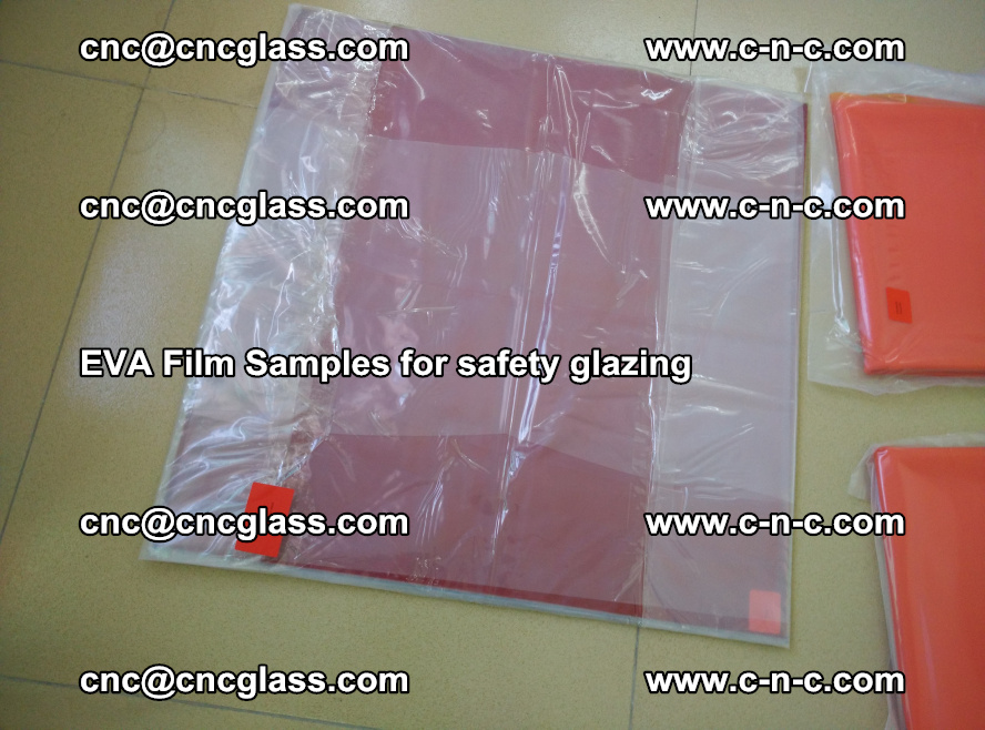 Ethylene Vinyl Acetate EVA FILM INTERLAYER samples for laminated safety glass (30)