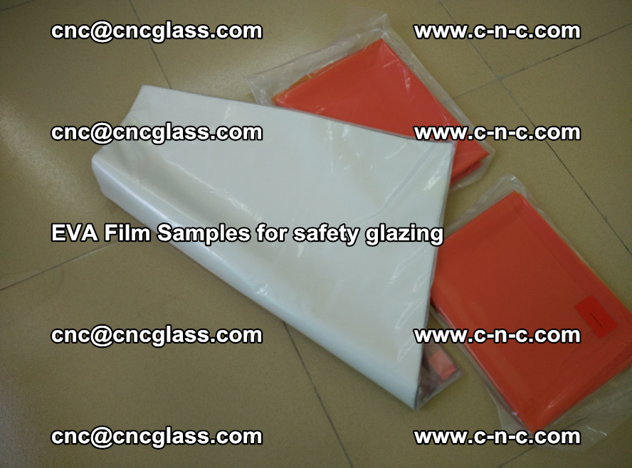 Ethylene Vinyl Acetate EVA FILM INTERLAYER samples for laminated safety glass (32)