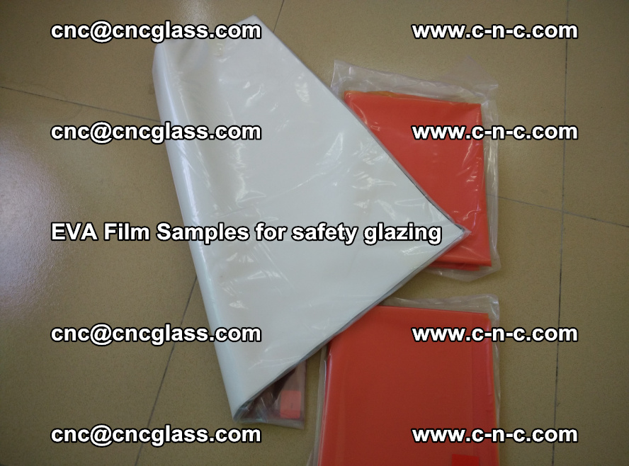 Ethylene Vinyl Acetate EVA FILM INTERLAYER samples for laminated safety glass (36)