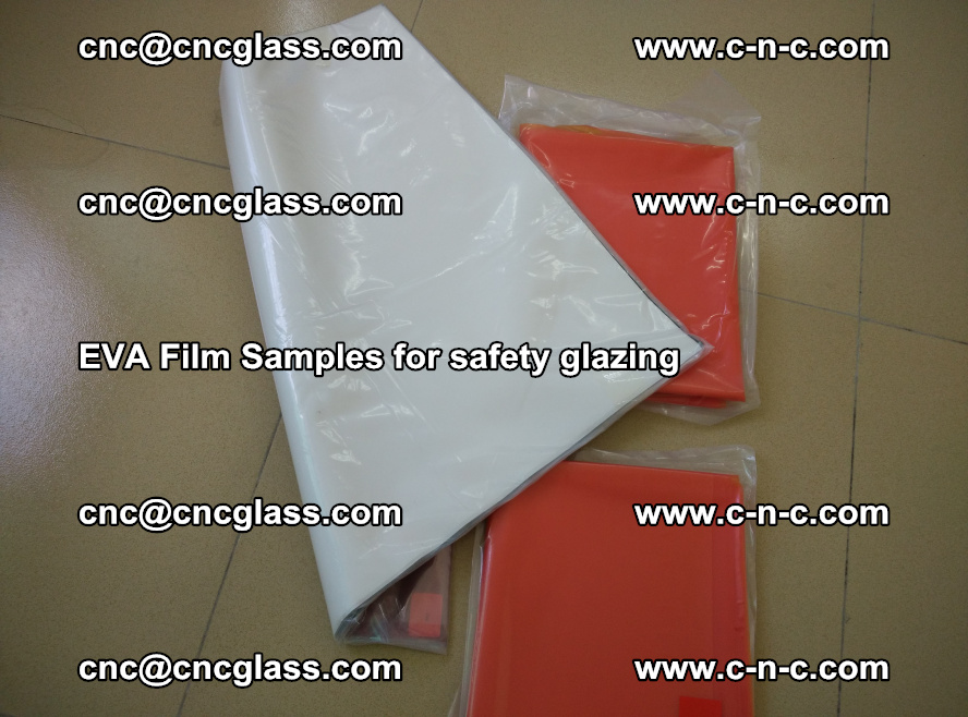 Ethylene Vinyl Acetate EVA FILM INTERLAYER samples for laminated safety glass (37)