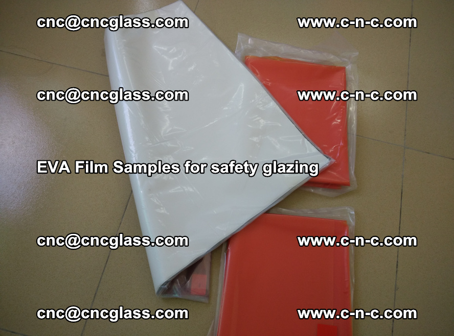 Ethylene Vinyl Acetate EVA FILM INTERLAYER samples for laminated safety glass (38)
