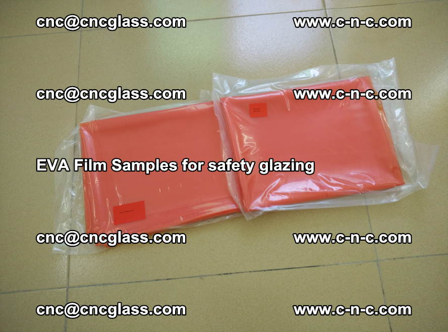 Ethylene Vinyl Acetate EVA FILM INTERLAYER samples for laminated safety glass (4)