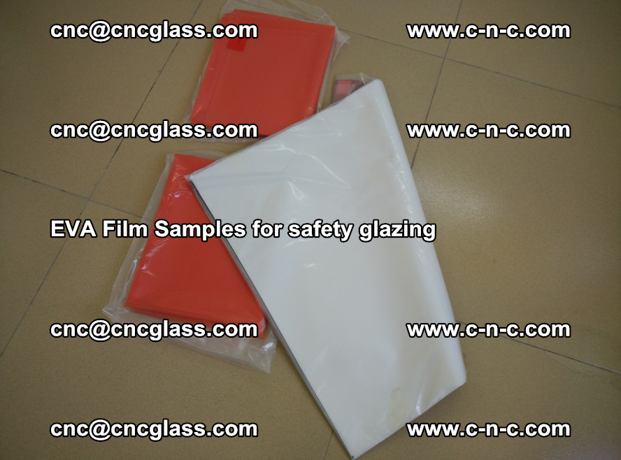 Ethylene Vinyl Acetate EVA FILM INTERLAYER samples for laminated safety glass (40)