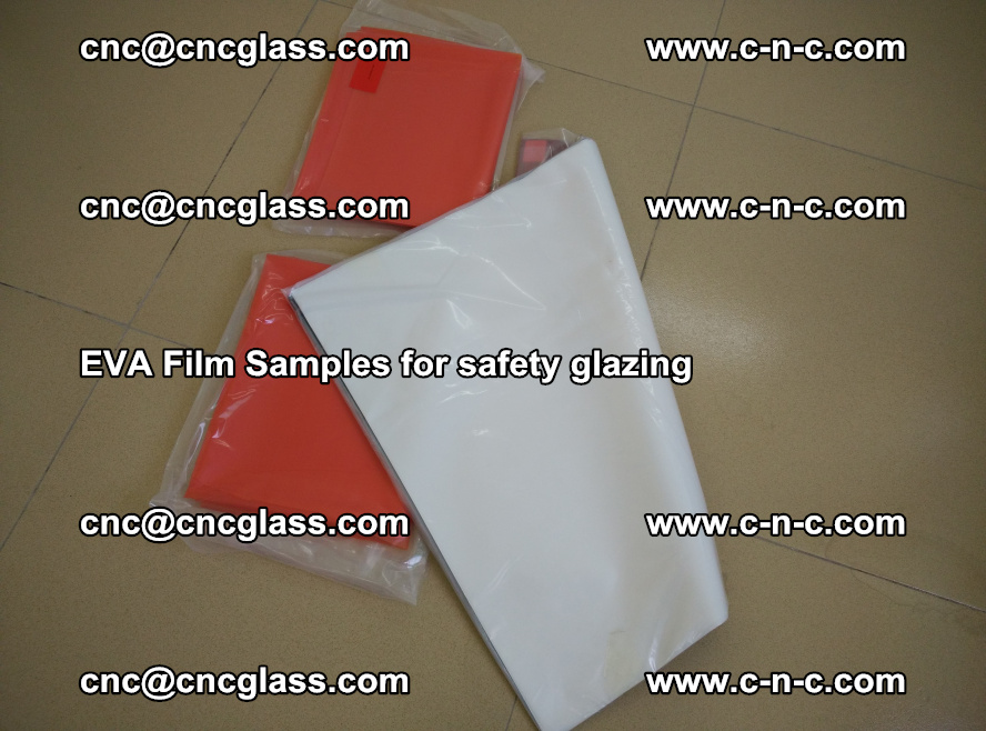 Ethylene Vinyl Acetate EVA FILM INTERLAYER samples for laminated safety glass (41)