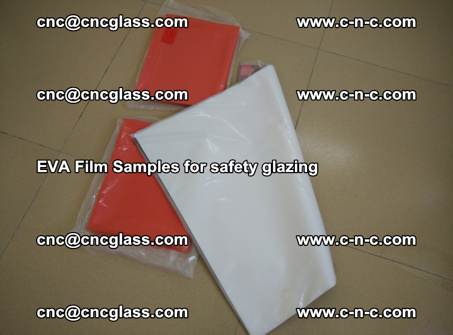 Ethylene Vinyl Acetate EVA FILM INTERLAYER samples for laminated safety glass (42)
