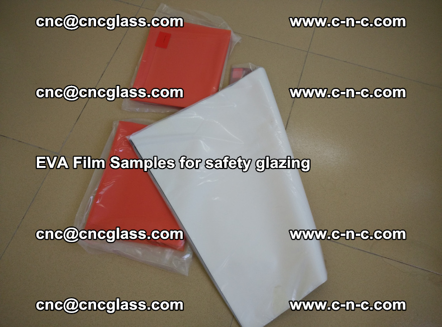 Ethylene Vinyl Acetate EVA FILM INTERLAYER samples for laminated safety glass (44)