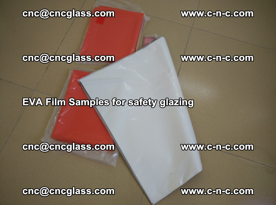 Ethylene Vinyl Acetate EVA FILM INTERLAYER samples for laminated safety glass (46)
