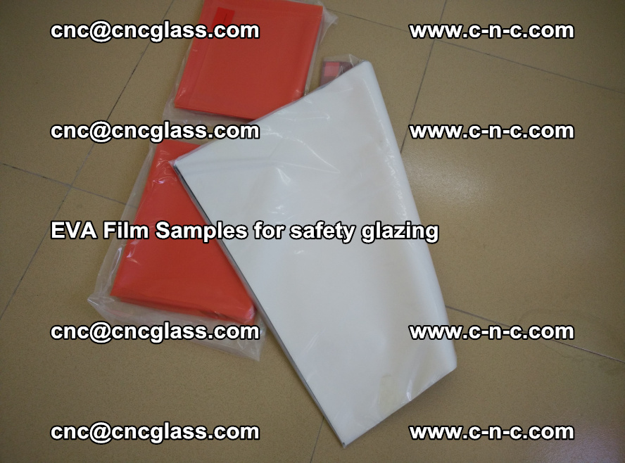 Ethylene Vinyl Acetate EVA FILM INTERLAYER samples for laminated safety glass (47)