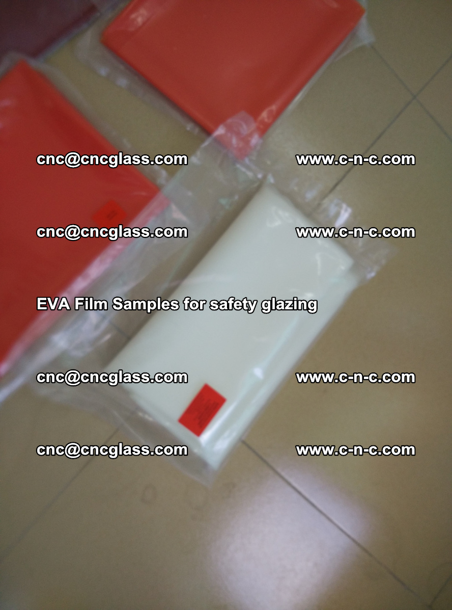 Ethylene Vinyl Acetate EVA FILM INTERLAYER samples for laminated safety glass (49)