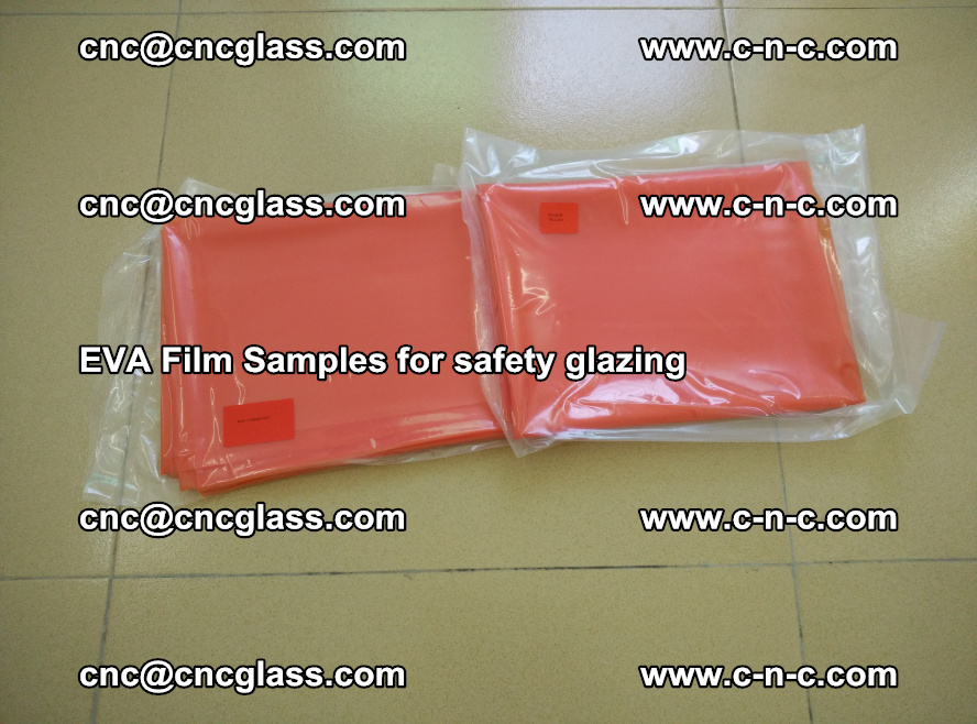Ethylene Vinyl Acetate EVA FILM INTERLAYER samples for laminated safety glass (5)