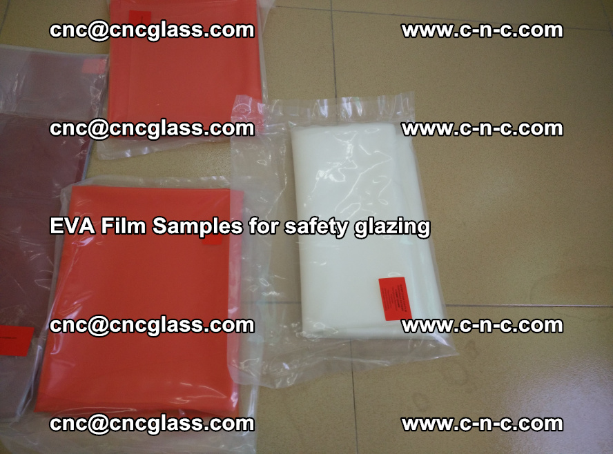 Ethylene Vinyl Acetate EVA FILM INTERLAYER samples for laminated safety glass (52)