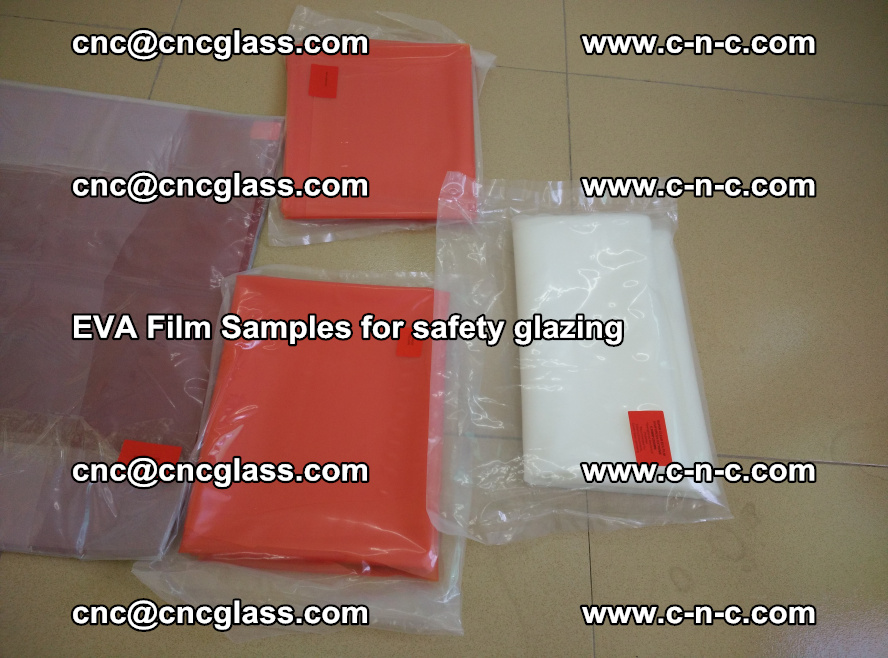 Ethylene Vinyl Acetate EVA FILM INTERLAYER samples for laminated safety glass (54)