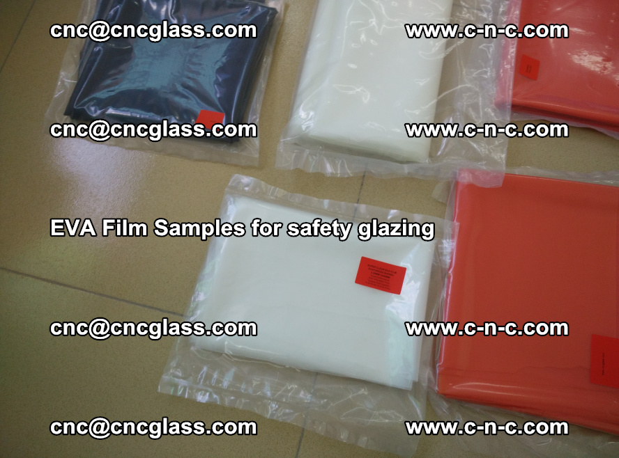 Ethylene Vinyl Acetate EVA FILM INTERLAYER samples for laminated safety glass (58)