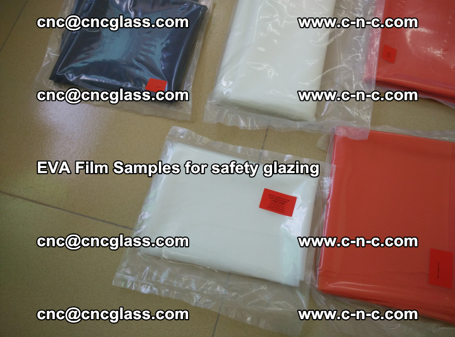 Ethylene Vinyl Acetate EVA FILM INTERLAYER samples for laminated safety glass (59)