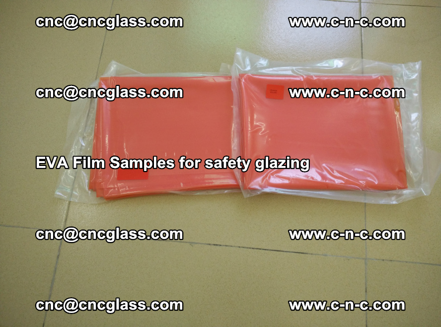 Ethylene Vinyl Acetate EVA FILM INTERLAYER samples for laminated safety glass (6)