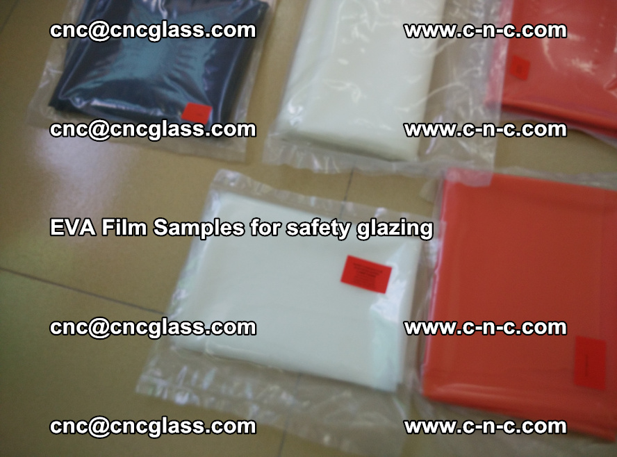 Ethylene Vinyl Acetate EVA FILM INTERLAYER samples for laminated safety glass (60)