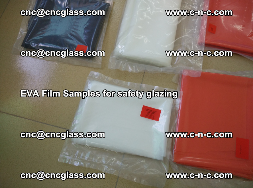 Ethylene Vinyl Acetate EVA FILM INTERLAYER samples for laminated safety glass (61)