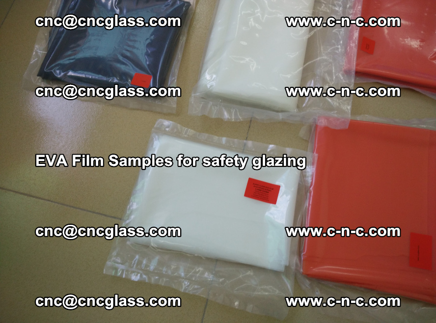 Ethylene Vinyl Acetate EVA FILM INTERLAYER samples for laminated safety glass (62)