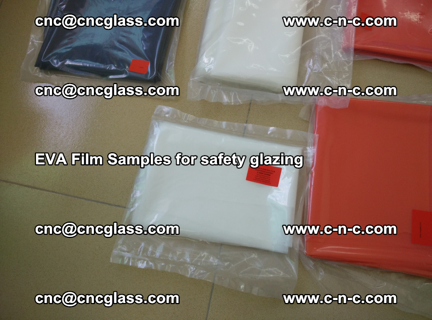 Ethylene Vinyl Acetate EVA FILM INTERLAYER samples for laminated safety glass (63)