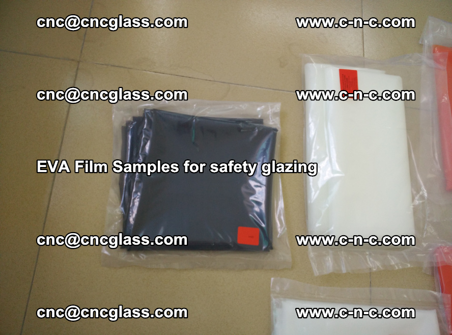 Ethylene Vinyl Acetate EVA FILM INTERLAYER samples for laminated safety glass (64)