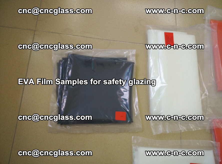 Ethylene Vinyl Acetate EVA FILM INTERLAYER samples for laminated safety glass (65)