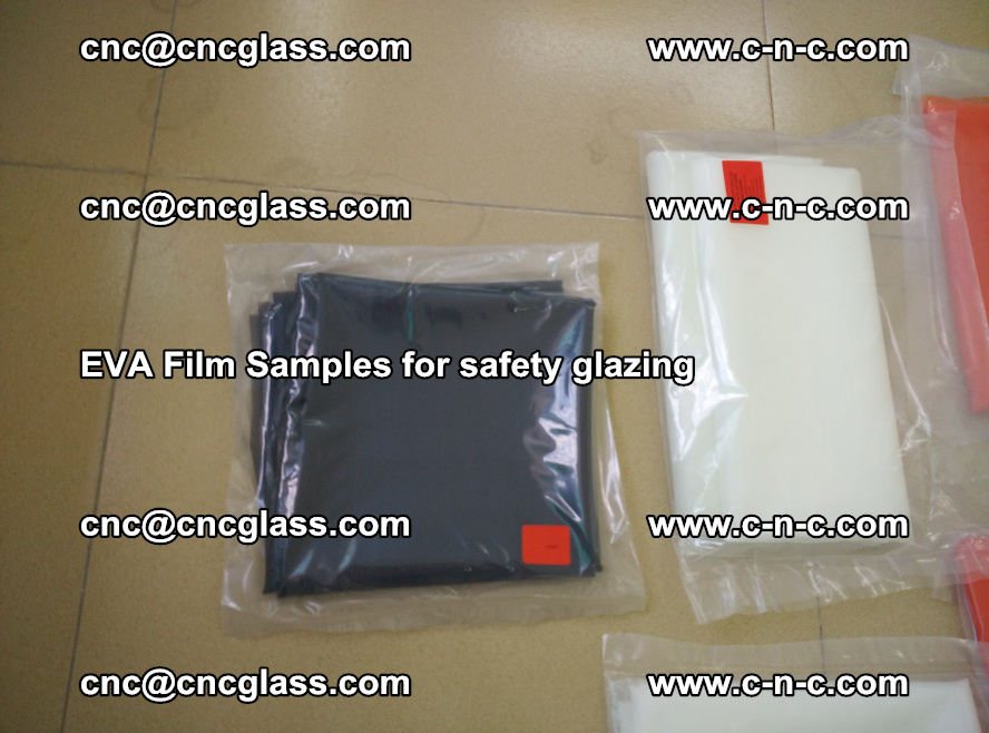 Ethylene Vinyl Acetate EVA FILM INTERLAYER samples for laminated safety glass (66)