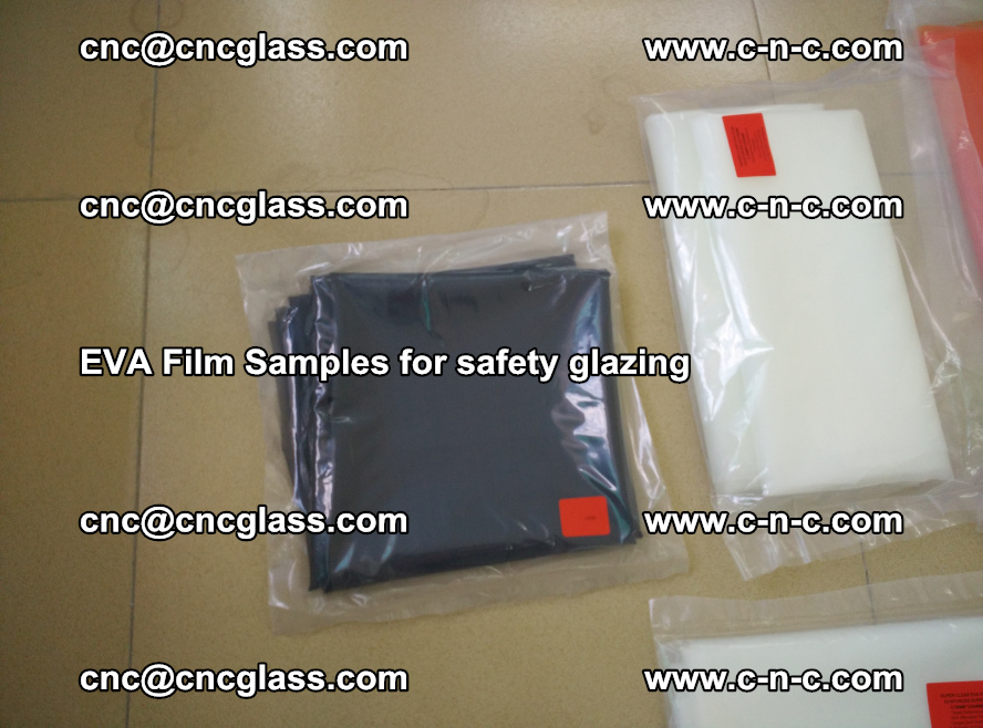 Ethylene Vinyl Acetate EVA FILM INTERLAYER samples for laminated safety glass (67)