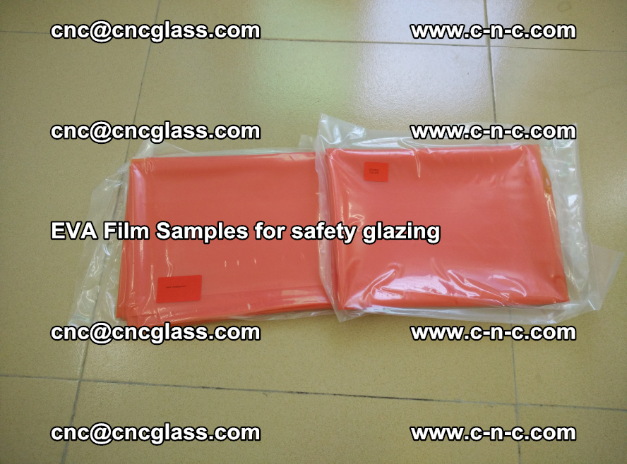 Ethylene Vinyl Acetate EVA FILM INTERLAYER samples for laminated safety glass (7)