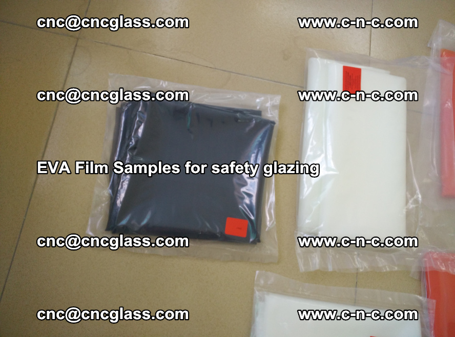Ethylene Vinyl Acetate EVA FILM INTERLAYER samples for laminated safety glass (70)