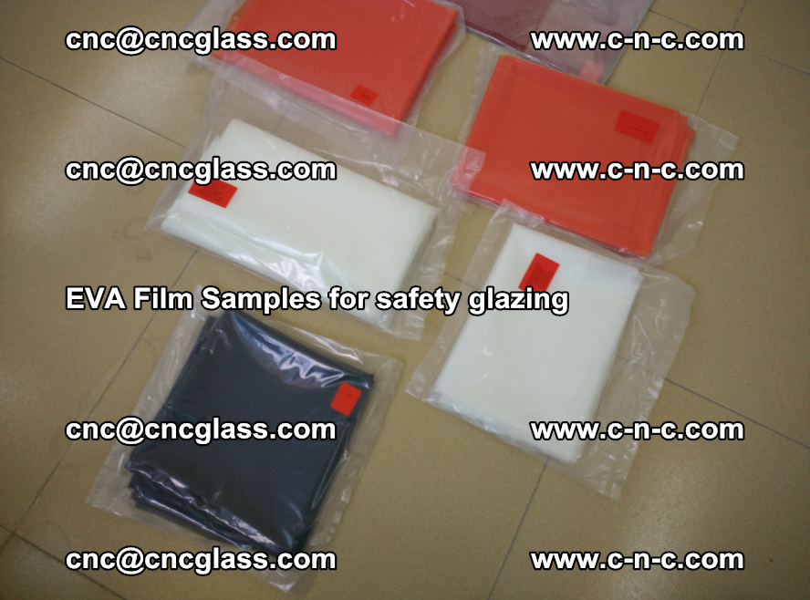 Ethylene Vinyl Acetate EVA FILM INTERLAYER samples for laminated safety glass (74)
