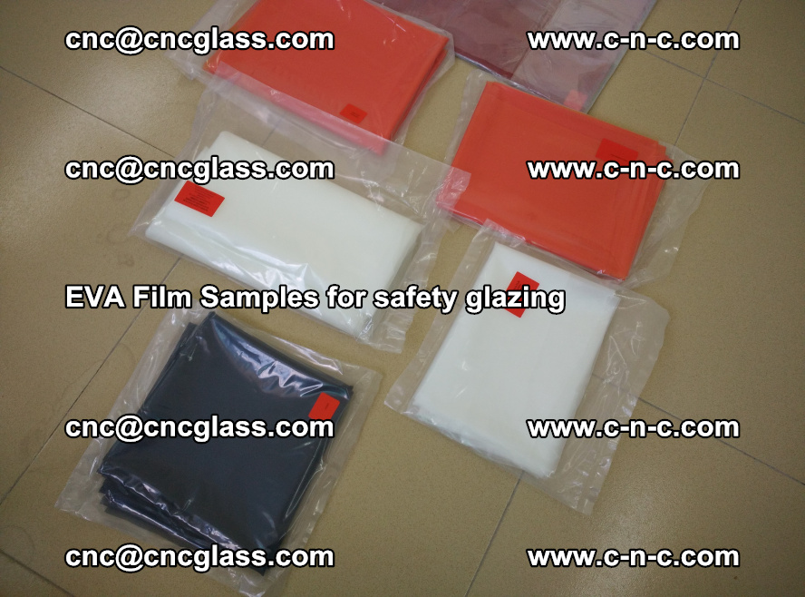 Ethylene Vinyl Acetate EVA FILM INTERLAYER samples for laminated safety glass (75)