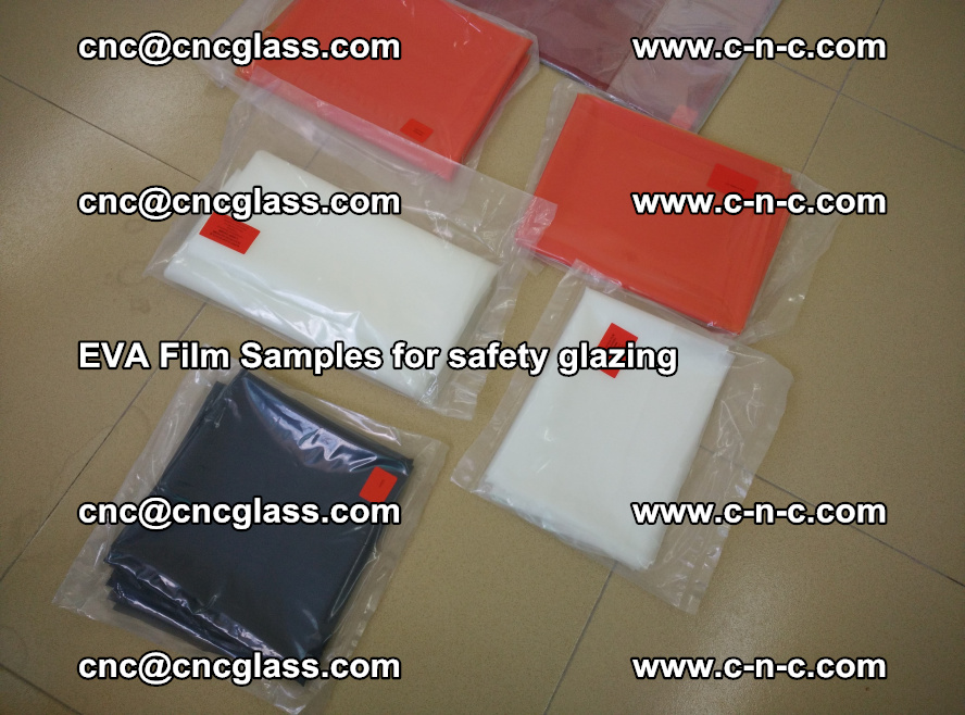 Ethylene Vinyl Acetate EVA FILM INTERLAYER samples for laminated safety glass (77)