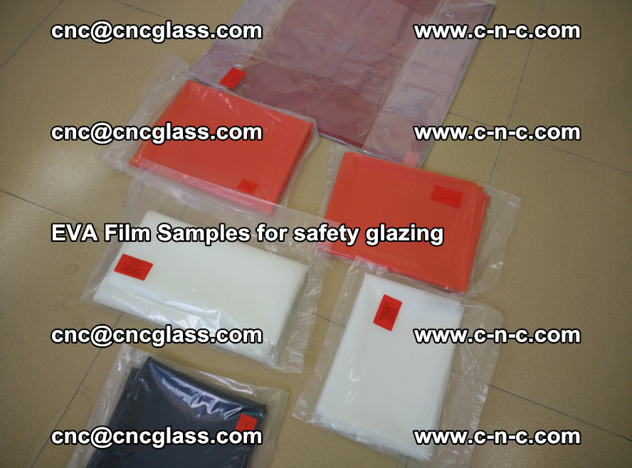 Ethylene Vinyl Acetate EVA FILM INTERLAYER samples for laminated safety glass (78)