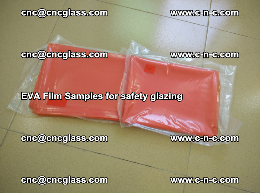 Ethylene Vinyl Acetate EVA FILM INTERLAYER samples for laminated safety glass (8)