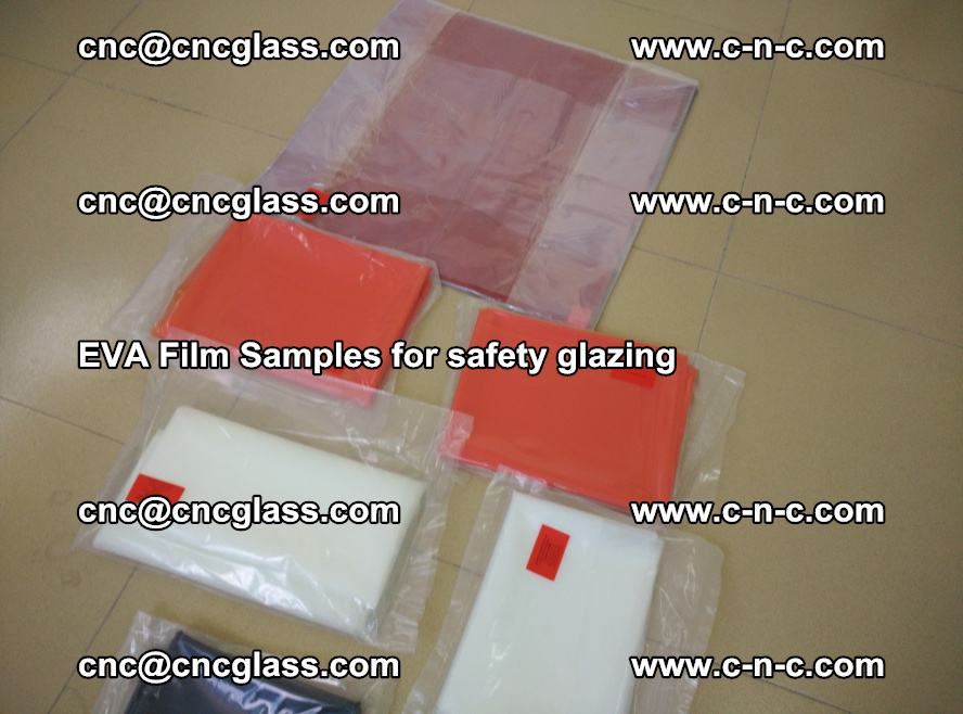 Ethylene Vinyl Acetate EVA FILM INTERLAYER samples for laminated safety glass (80)