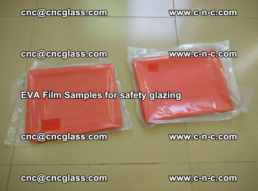 Ethylene Vinyl Acetate EVA FILM INTERLAYER samples for laminated safety glass (9)