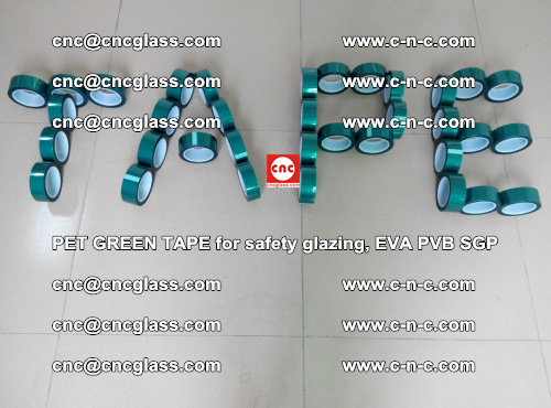 Green Ribbon Tape for safety laminated glass galzing (2)