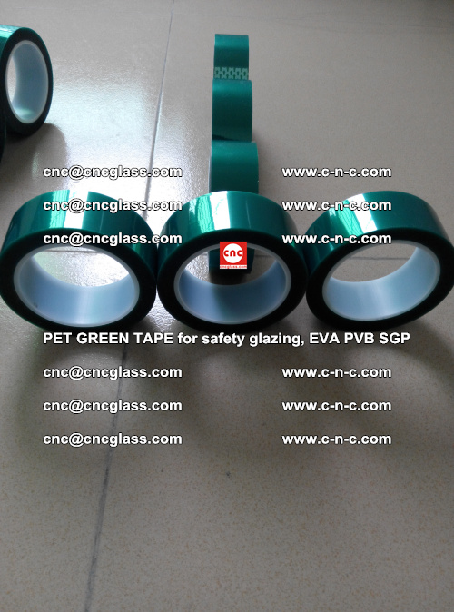 Green Ribbon Tape for safety laminated glass galzing (37)