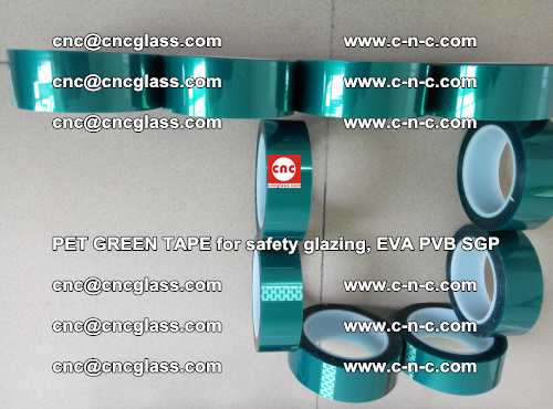 Green Ribbon Tape for safety laminated glass galzing (8)