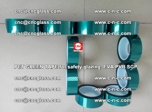 Green Ribbon Tape for safety laminated glass galzing (9)